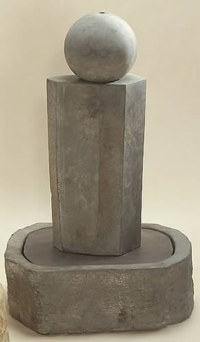 Rock Pillar Fountain Short with Ball