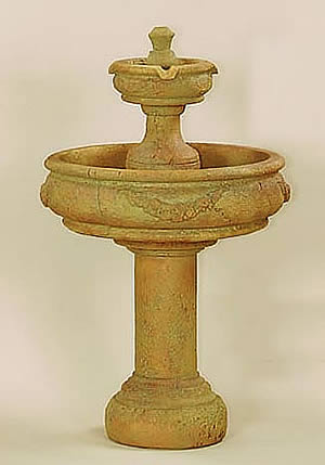 Rosa 2-Tiered Fountain With Tall Base
