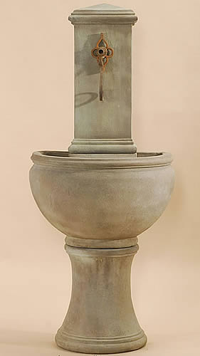 Rustic Modena Wall Fountain For Spout