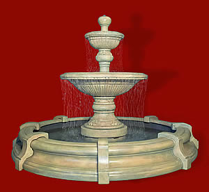 2-Tiered Traviata Fountain in Toscana Pool