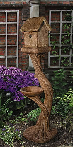 Tall Square Bird House
