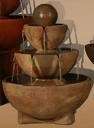 Tall Stone Vessels Fountain