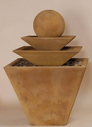 3-Tiered Tapered Square Fountain