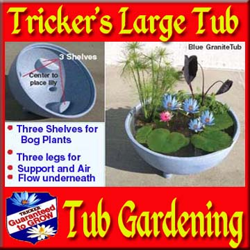 Tricker's Large Tub with or without Plants