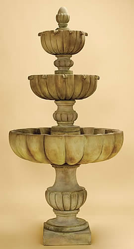 Tall Urbino Grande 3-Tiered Fountain