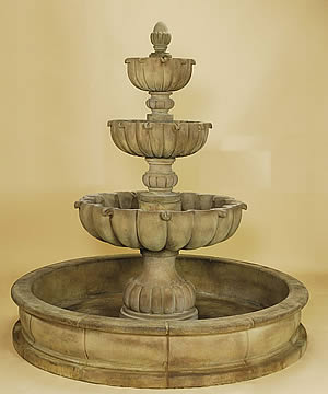 Urbino Grande 3-Tiered Pond Fountain