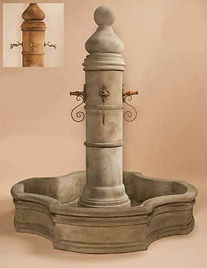 Ventoux Pond Fountain & Monaco Pond for Rustic Spouts