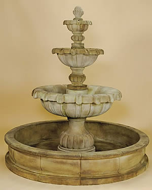 Vistamar 3-Tiered Pond Fountain