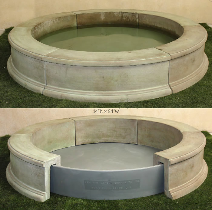 Hybrid Cast-Stone Fountain Pool