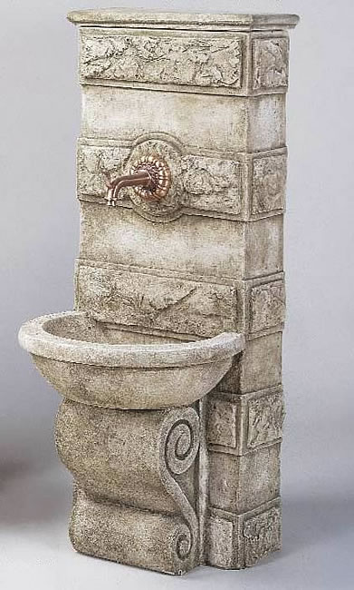 Abetone Fountain For Spout. Limestone