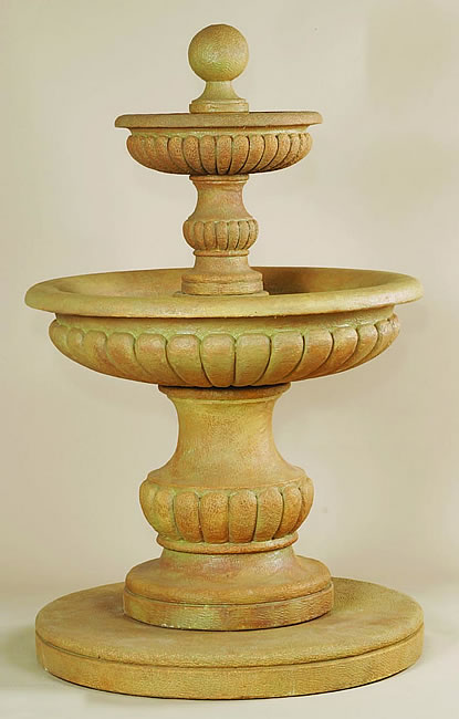 Acqua Sparta 2-Tiered Fountain. Cotto