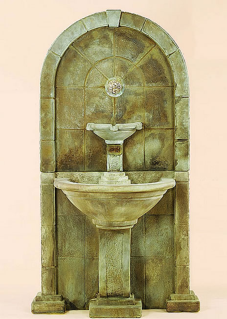 Amalfi Wall Fountain For Spout. Antico