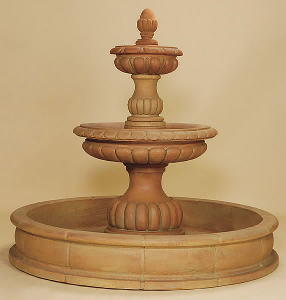 Ambra 2-Tiered Pond Fountain