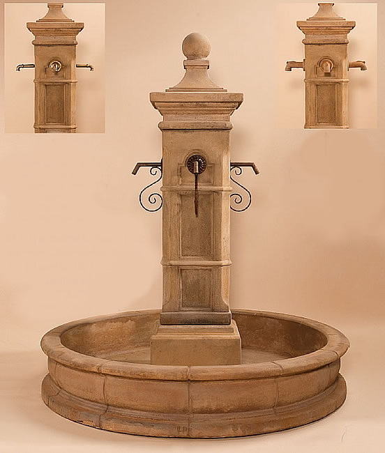"Aquitaine Pond Fountain 70"" Pond for Spouts. Vintage"