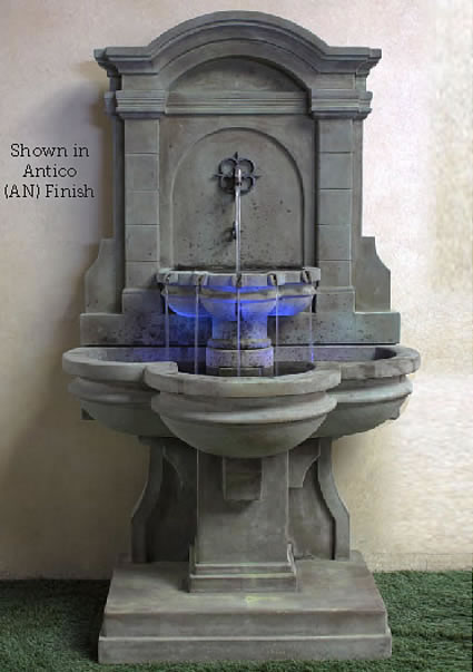 Arbois Flatwall Fountain. Antico