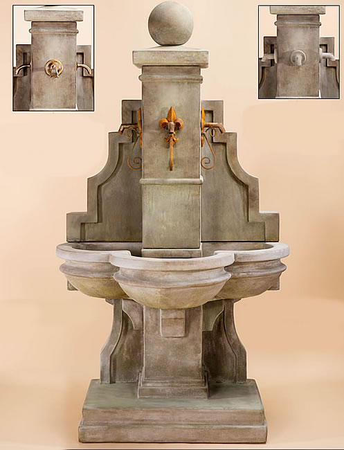 Arles Fountain for Rustic Iron Spouts. Antico