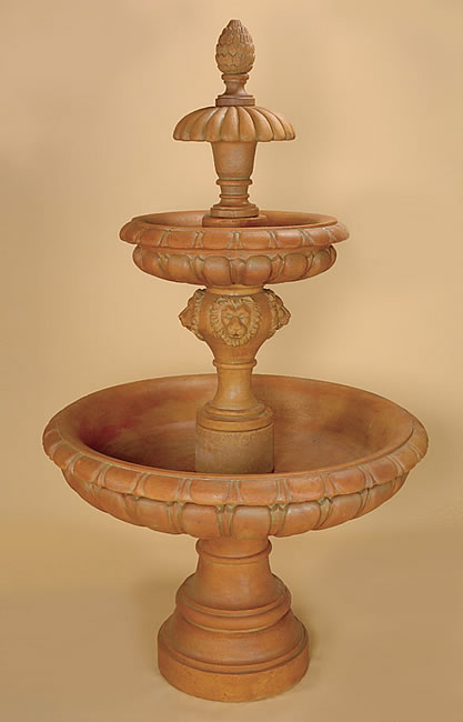 Bassano 3-Tiered Fountain. Cotto