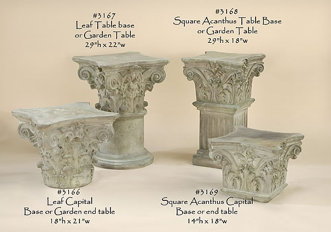Classical Garden Table and Pedestal. Limestone