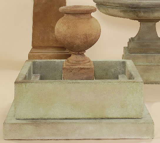 Etruria Urn Fountain. Two-tone
