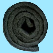 Roll of Black Coarse Filter Material - 24 Feet