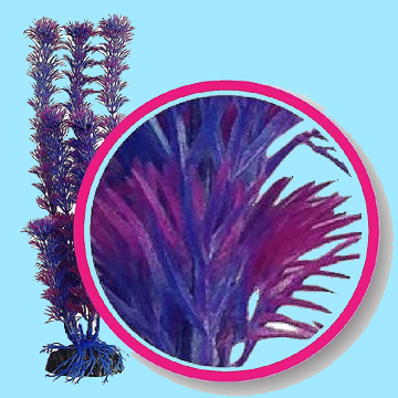 Aquarium Plastic Plants - Fushia Fern 12""