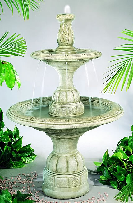 Contemporary Tiered Fountain. Elban Oivestone