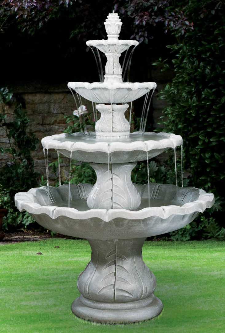 4-Tiered Classical Finial Fountain