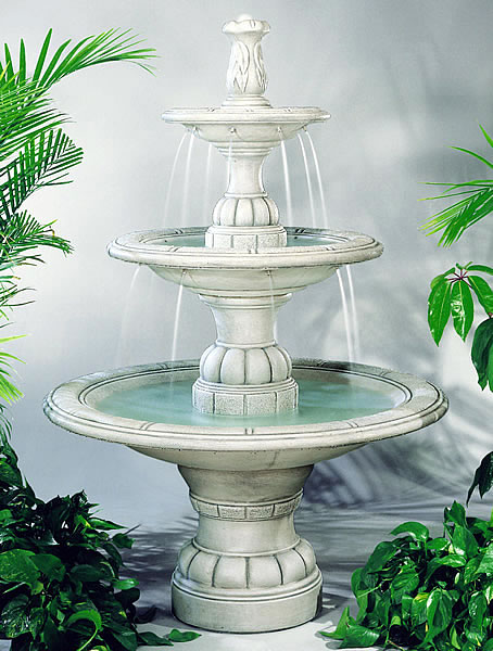 Contemporary Tiered Fountain. Pompeii Antique Ash