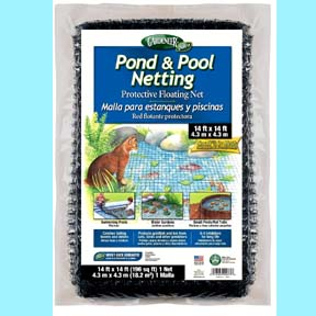 Free Shipping: Pond Net Covering 14 feet by 14 feet
