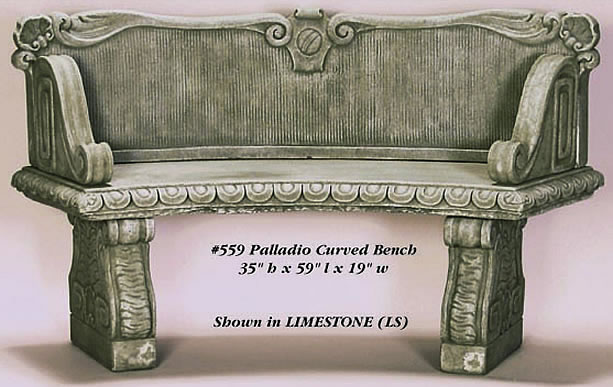 Palladio Curved Bench