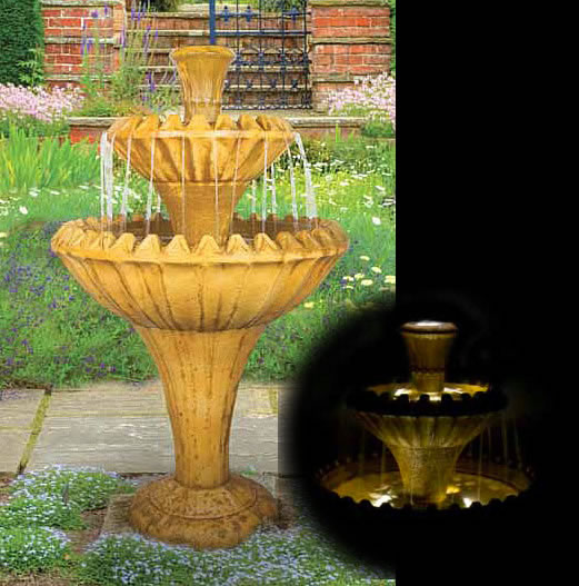 Grande Two-Tier Fountain, 3 pc.. Relic Tuscan Sun