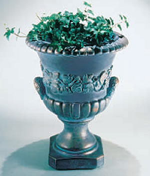 140 Deco Handle Urn. Bronze Patina